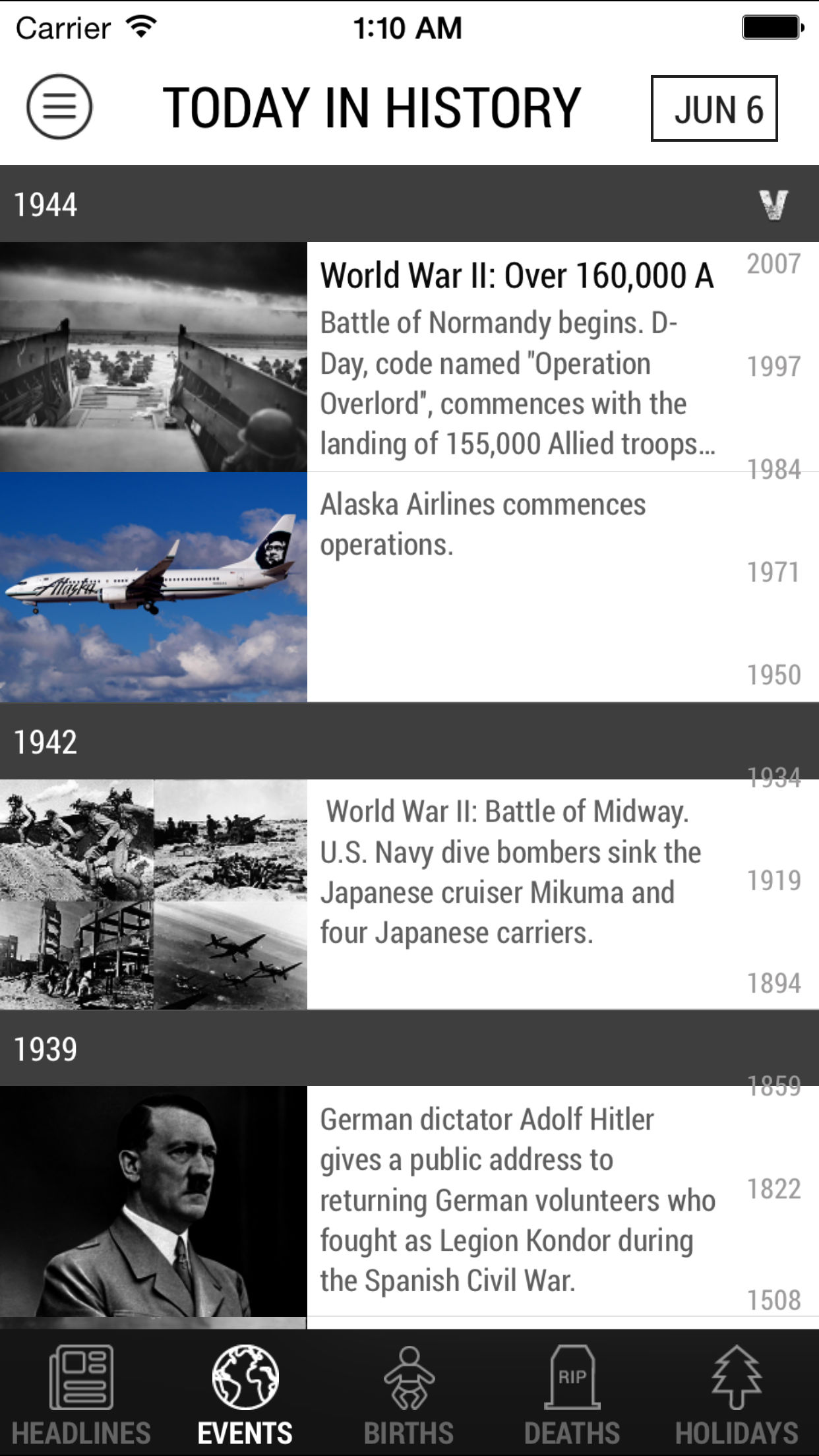 Today in History App Adds Support for Apple Watch and Widgets Image